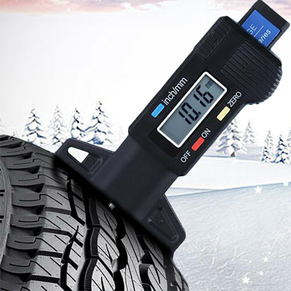 New Develop Digital Car Wheel Tire Gauge Meter Tool Tire Tread Depth Tester Easy To Use Carro Wholesale Quick Delivery CSV