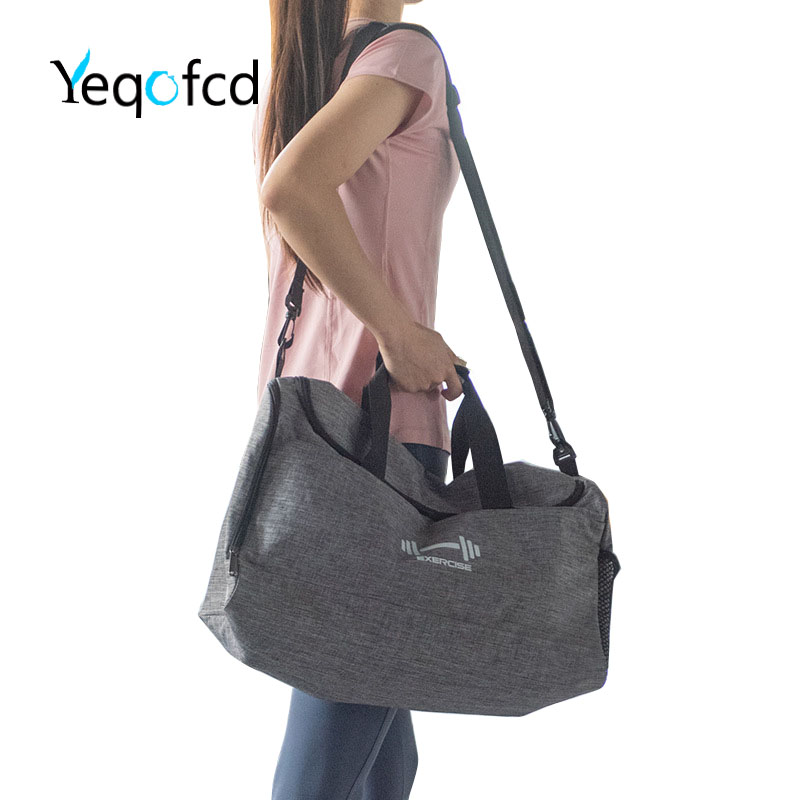 Yeqofcd Travel Duffle Bag Lightweight Foldable Unisex Weekend Bags Polyester Waterproof Carry On Luggage For Gym Sports