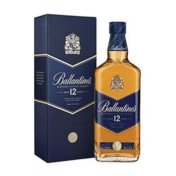 Ballantines 12 Blended Scotch Whisky – 12 Jahre alter milder Blend aus schottischen Malt & Grain Whiskys – Mit Honig-,