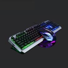 цена на New Wired Gaming Keyboard Mechanical Feeling Backlit Keyboards USB Keyboard Waterproof Computer Notebook desktop Game Keyboards