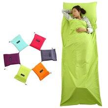Открытый спальный мешок Сверхлегкий дизайн дорожные спальные мешки портативный складной походный двойной спальный мешок подкладка 75x210/160x210 см