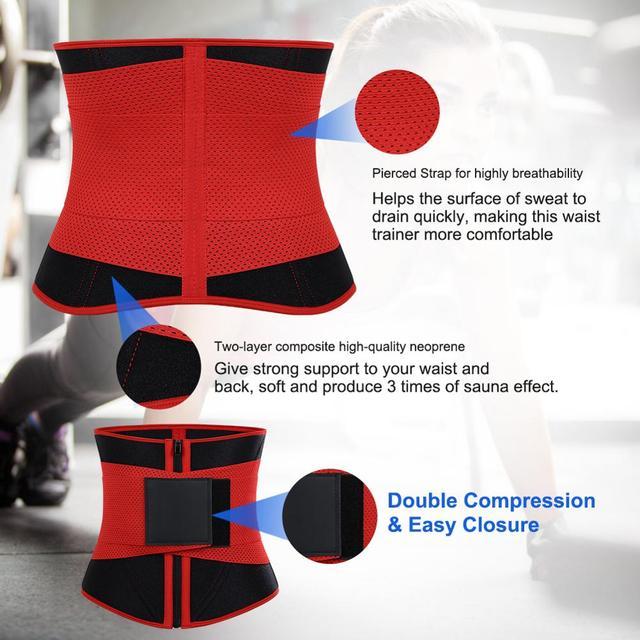 Lover-Beauty Women Waist Trainer Neoprene Belt Weight Loss Cincher Body Shaper Tummy Control Strap Slimming Sweat Fat Burning 2