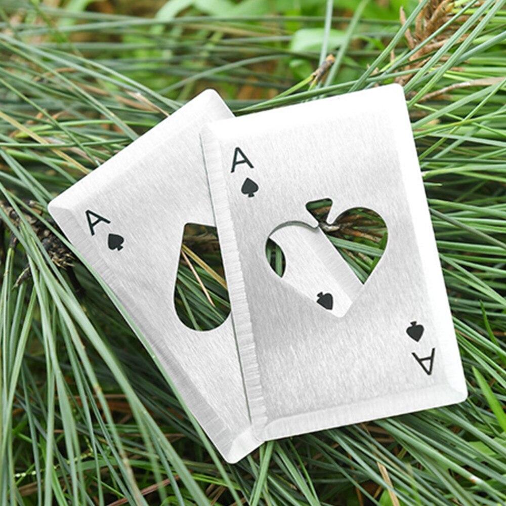 Knife Credit Card Creative Poker Stainless Steel Bottle Opener Pocket Knife Spades Sharp Edge Knife 2 Colors