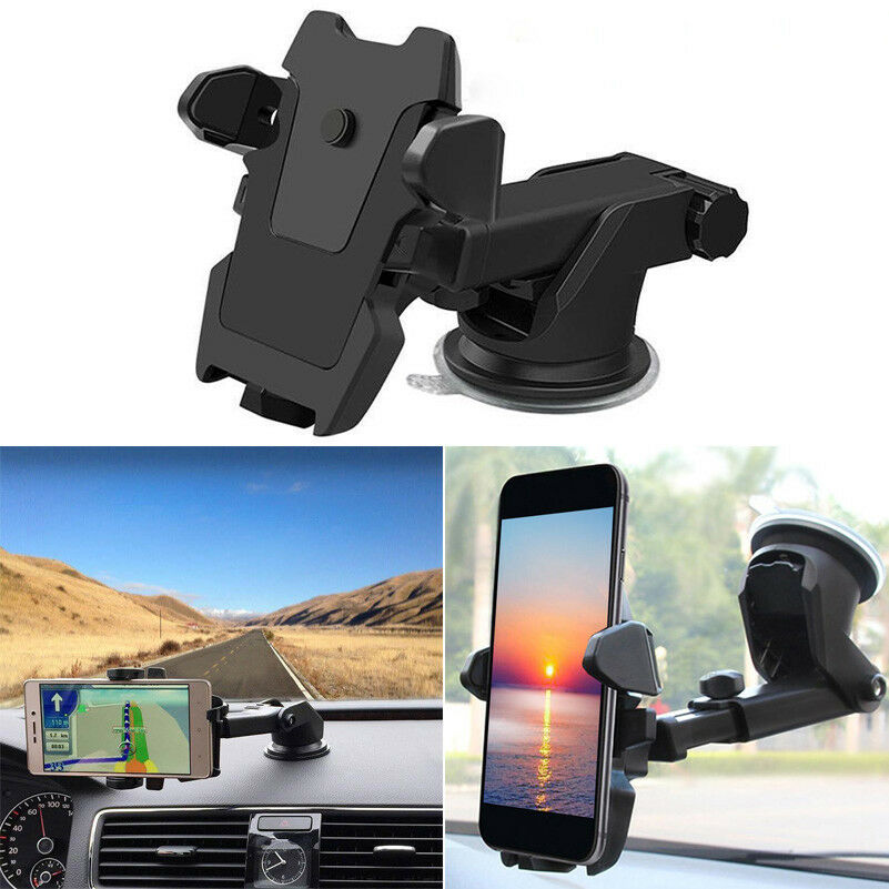 360 Rotating Bracket Mobile Phone In Car Telescopic Long Rod Windshield Sucker Mount 360° Bracket Support Mobile GPS Navigator