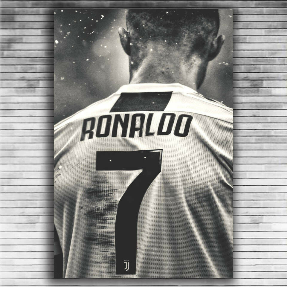 Cristiano Ronaldo Sport Superstar Football Player 7 Silk Fabric Wall Poster Art Decor Sticker Bright