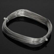 30 м x 0,6 мм 304 Проволочный Трос из нержавеющей стали, растягивающийся кабель с Мягкой структурой, рыболовный подъемный кабель, бельевая линия