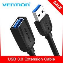 Vention USB 3.0 تمديد كابل يو إس بي 2.0 كابل يو إس بي ذكر إلى أنثى بيانات الحبل للتلفزيون الذكي PS4 Xbox One PC USB 3.0 تمديد كابل