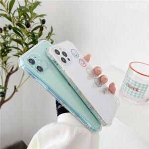 Image 2 - Cute Simple Happy Smile Phone Case For iphone 12 mini 11 Pro Max 7 8 plus SE 2020 X XR XS Max SE 2020 Soft Cover Side Print Case