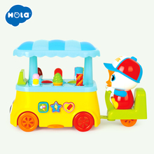 HOLA 6101 Colorful Ice-Cream Cart with Music & Light& Electric Universal