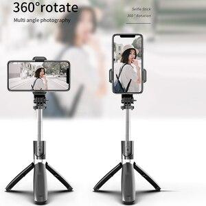 Image 2 - 4 In1 Bluetooth אלחוטי Selfie מקל חצובה מתקפל & Monopods אוניברסלי עבור טלפונים חכמים עבור Gopro פעולת ספורט מצלמות