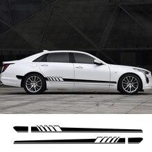 Для Cadillac ats CTS Escalade XTS XT4 XT5 CT6 2 шт. наклейки для боковой двери автомобиля Автомобильная виниловая пленка наклейки для стайлинга автомобиля Принадлежности для тюнинга