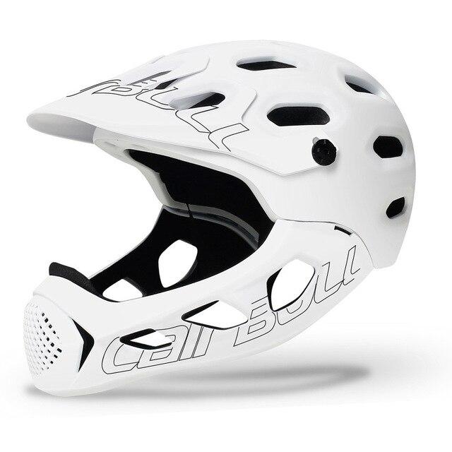 Ultraleve Capacete de Bicicleta de Montanha MTB Down Hill TRILHA BMX Capacete Full Face Coberta Inte-Moldado Capacetes de Ciclismo Capacete MTB 3