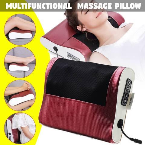 nova pescoco ombro para tras do corpo de aquecimento infravermelho massagem eletrica travesseiro cervical dispositivo