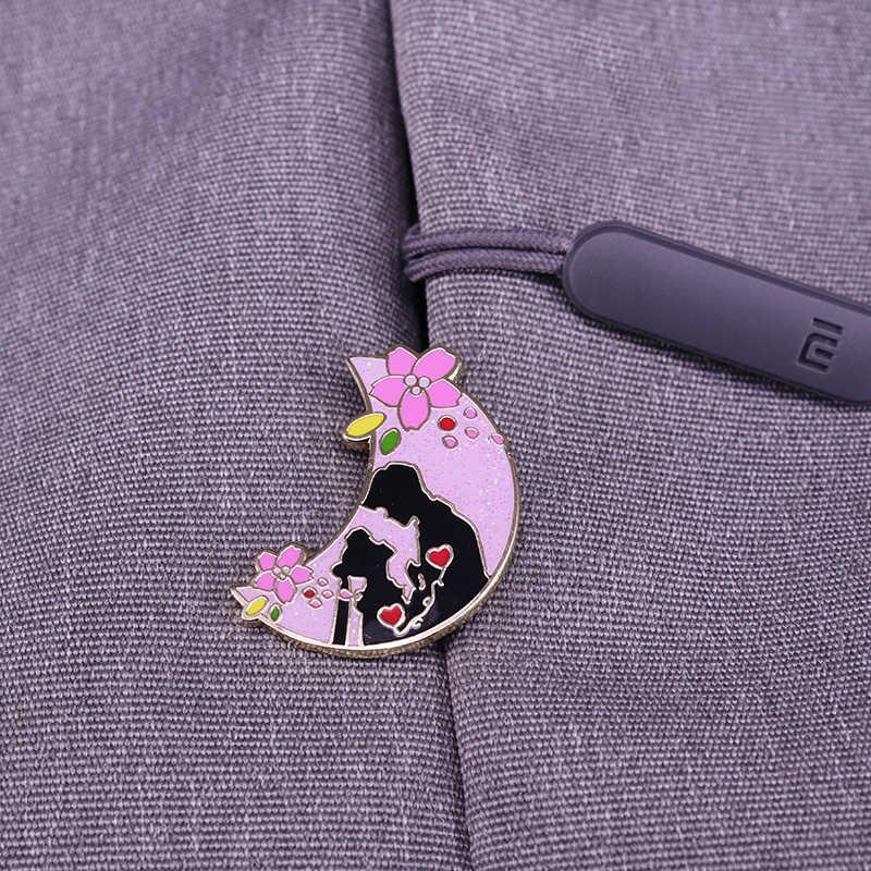 Spring Edition Sailor Moon Glitter Pin Cinta Abadi Lucu Hadiah Kejutan untuk Dia