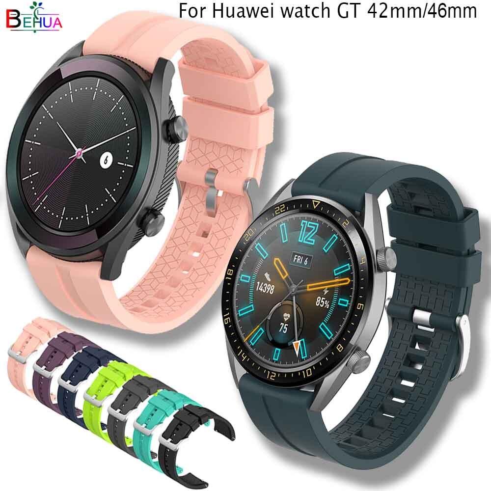 LUXYUR FASHION Silicone Wrist Strap For Huawei Watch GT 42mm 46mm/gear S3/ Honor Watch Magic Sport Bracelet Watch Band Straps