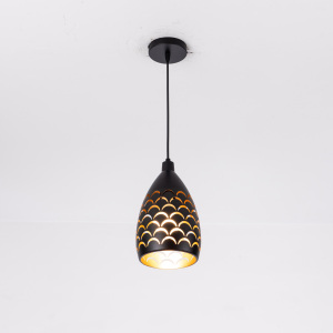 Image 3 - Indoor Modern LED Ceiling Lights Simple restaurant living room bedroom Lighting fixture accessory Scaly hollow iron ceiling lamp