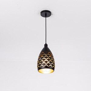 Image 3 - Kapalı Modern LED tavan işıkları basit restoran oturma odası yatak odası aydınlatması fikstür aksesuar pullu içi boş demir tavan lambası