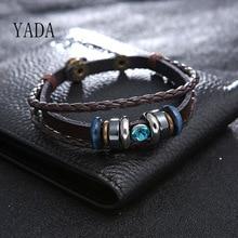 YADA Gifts New Arrival Couple Bracelets&Bangles For Men multi-layer Braided Leather Bracelets Charm Jewelry Bracelet BT200095 смеситель для кухни kaiser orbit 20033