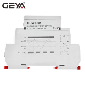 Image 4 - Free Shipping GEYA GRW8 Din Rail Temperature Control Relay 16A Wide Range Voltage  AC/DC24 240V with Waterproof Sensor