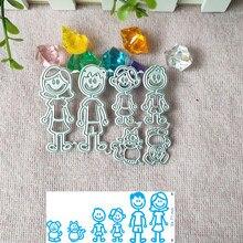 Członkowie rodziny craft die metalowe wykrawacze do scrapbookingu pieczęć rzeźba karta papierowa matryca stempla nowy DIY die