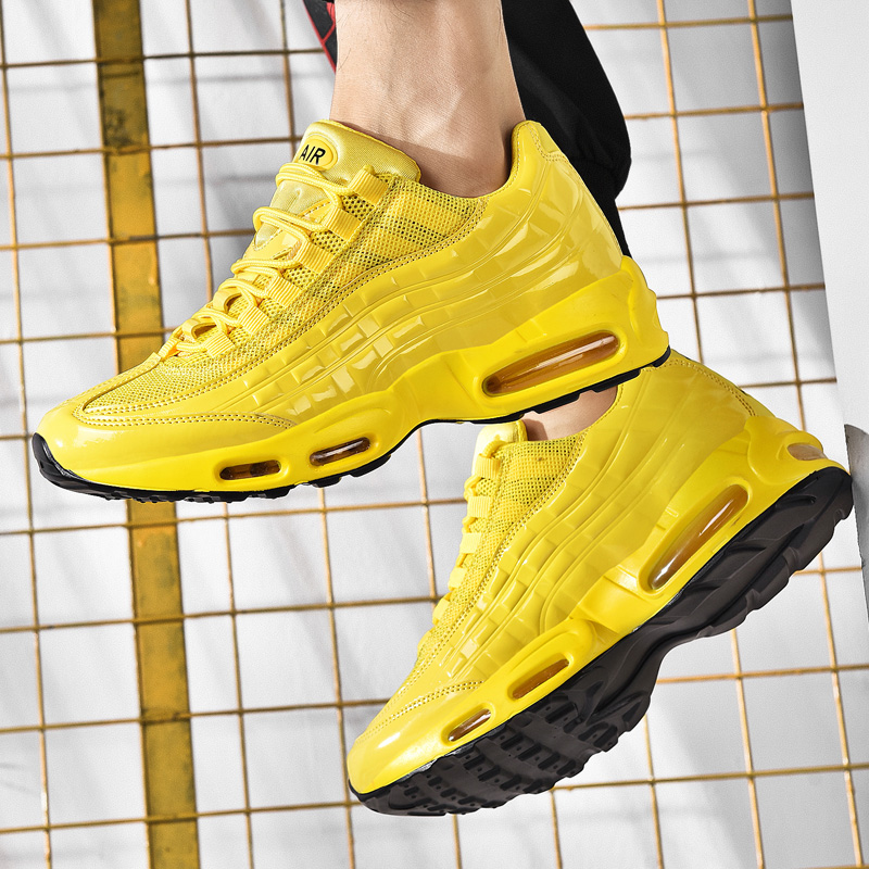 Men Sports Sneakers Shoes 2019 Air Cushion Men's Running Shoes Yellow  Sneakers Athletic Footwear Winter Men Sneaker Plus Size