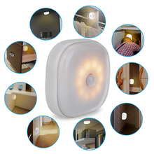 10 LEDs Mini LED Night Motion Sensor Light AAA Battery Powered Motion Detector Lamp Cold White / Warm White WC Toilet Light icubot l1 solar powered ir sensor motion activated 16 led white light lamp white silver