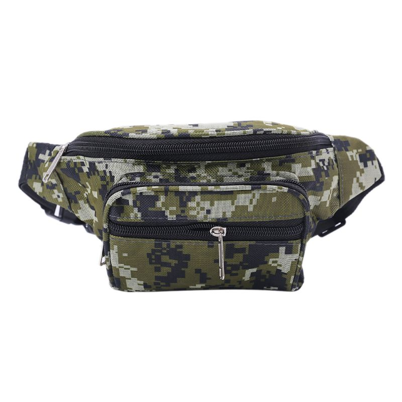 Canvas Camouflage Waist Packs Bags Belt Phone Pouch Travel Fanny Pack Multi Function Shoulder Bag For Men Women