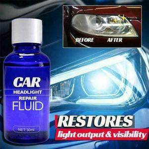 30ml Car Headlight Maintenance Clean Retreading Agent Spray Polish Repair Fluid Automobiles Car Wash Headlight Assembly Repair