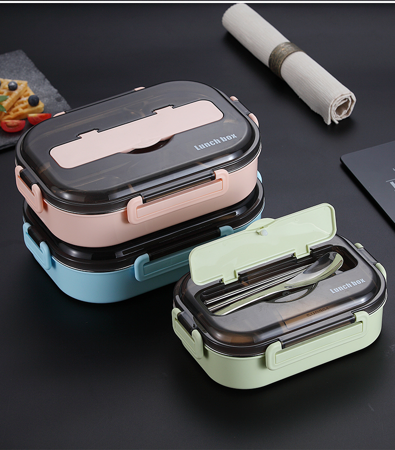 Haeb3a1dcff2f480ca97b6b8c0db205454 - WORTHBUY Japanese Kids Lunch Box 304 stainless steel Bento Lunch Box With Compartment Tableware Microwave Food Container Box