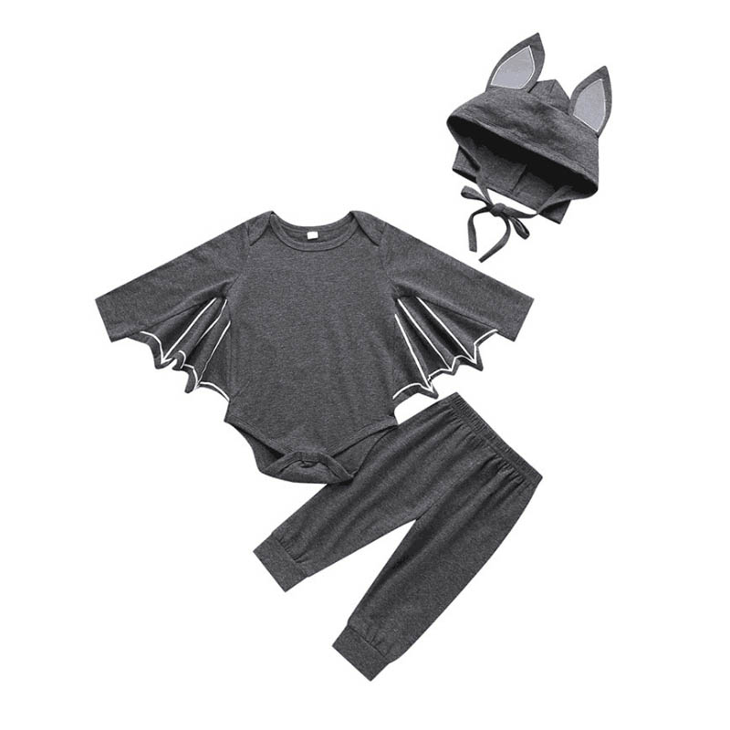 Newborn Infant Baby Clothes BAT Cosplay 2019 Halloween Costume Baby Boy Girl Romper+Hat 2PCS Costumes Baby Outfit Sets