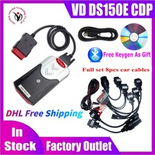 10ชิ้น/ล็อต DHL ฟรีเรือใหม่ VCI VD DS150E CDP พร้อม Bluetooth 2017.R3 Keygen OBD2เครื่องมือสแกนเนอร์สำหรับ Delphis Obd2เครื่องมือวินิจฉัย