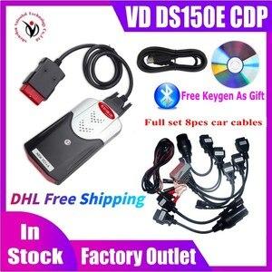 Image 1 - 10ชิ้น/ล็อต DHL ฟรีเรือใหม่ VCI VD DS150E CDP พร้อม Bluetooth 2017.R3 Keygen OBD2เครื่องมือสแกนเนอร์สำหรับ Delphis Obd2เครื่องมือวินิจฉัย