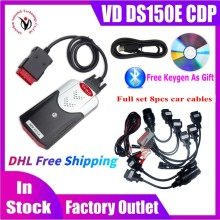 10pcs/lot DHL Free Ship NEW VCI VD DS150E CDP with bluetooth 2017.R3 keygen OBD2 Scanner tool for delphis obd2 diagnostic tool