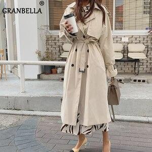 Nieuwe 2020 Herfst Winter Trenchcoat Voor Vrouwen Plus Size Double Breasted Dames Lange Jassen Windbreaker Abrigos Mujer(China)