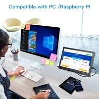 """עבור מחשב Eyoyo EM13H 13.3"""" QHD 2560x1440 2K IPS PC צג מסך המשחקים ניידים עבור צג LCD נייד PS3 PS4 HDMI מחשב (3)"""