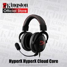 קינגסטון HyperX ענן ליבה משחקי אוזניות עם מיקרופון מקצועי esport אוזניות אוזניות שחור