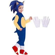 Crianças novo anime quente crianças de luxo menina menino traje o ouriço crianças personagem jogo cosplay halloween traje