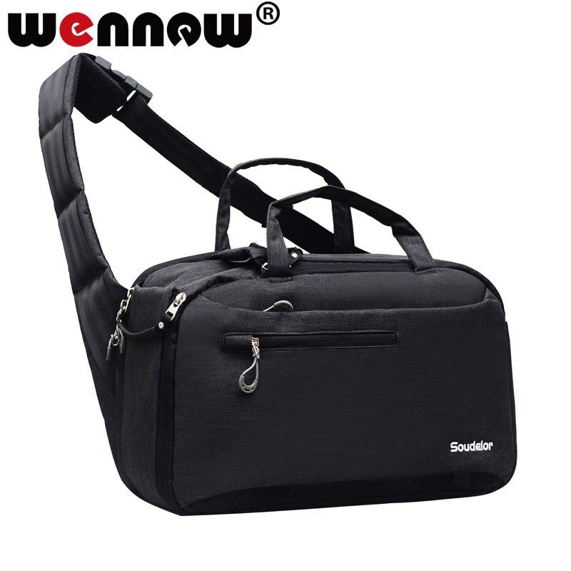 Grand appareil photo DSLR sac mode incliné épaule sac à dos sac à dos pour Canon 800D 70D 77D 80D 4000D 2000D 9000D X9i 7D couvercle de lentille