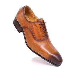 Italia Designer Scarpe Fatte A Mano Derby Offical Affari Vestito Degli Uomini di Scarpe di Cuoio Sociale Formale Lace Up scarpe A Punta Calzature Vendita Calda