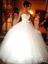 Vestido de fiesta de novia con lazo largo de encaje en la espalda vestido de novia de tul 2020