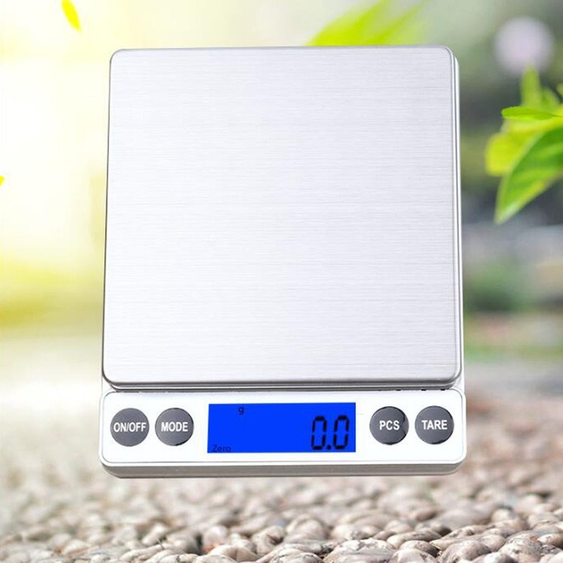 1KG 0 1g 2KG 0 1g Kitchen Electronic Scales Multi function Baking Food Scales Ultra precision Balance Scales Jewelry 0 1g in Kitchen Scales from Home Garden
