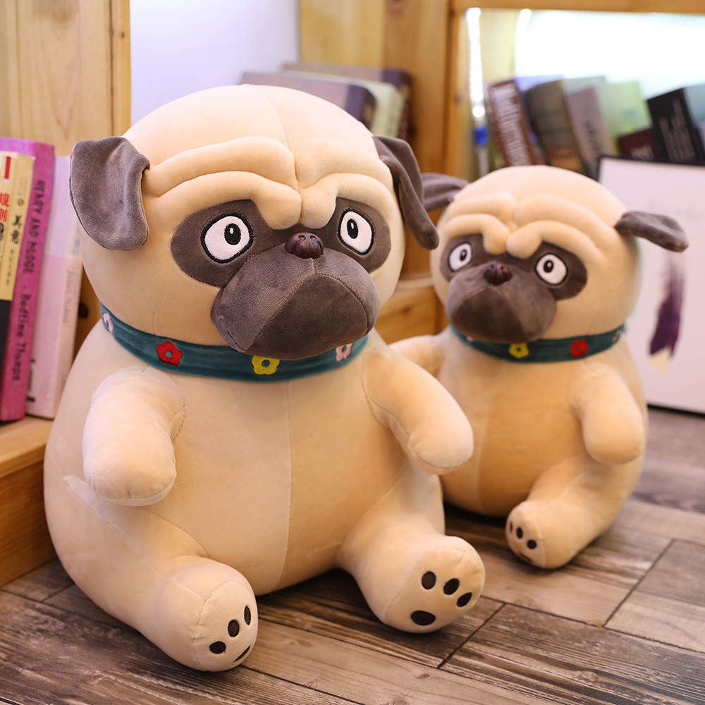 1PC 25-50CM Sand Dogs Doll Stuffed Simulation Dogs Plush Sharpei Pug Lovely Puppy Pet Toy Plush Animal Toy Children Kids Birthday Christmas Gifts