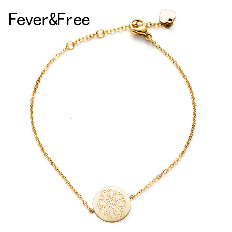Fever&Free High Quality Bohemian Adjustable Simple Luxury Bracelets Ladies Party Stainless Steel Bracelets Bangles Femme Jewelry