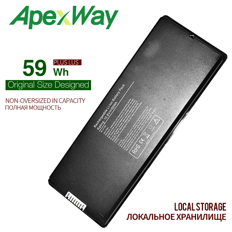 59Wh BLACK Silver laptop Battery for font b Apple b font A1185 A1181 For font b