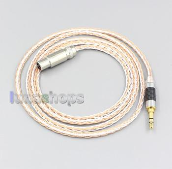 LN006904 XLR 6.5mm 4.4mm 2.5mm 800 Wires Silver + OCC Headphone Cable For AKG Q701 K702 K271 K272 K240 K141 K712 K181 K267 K712 фото