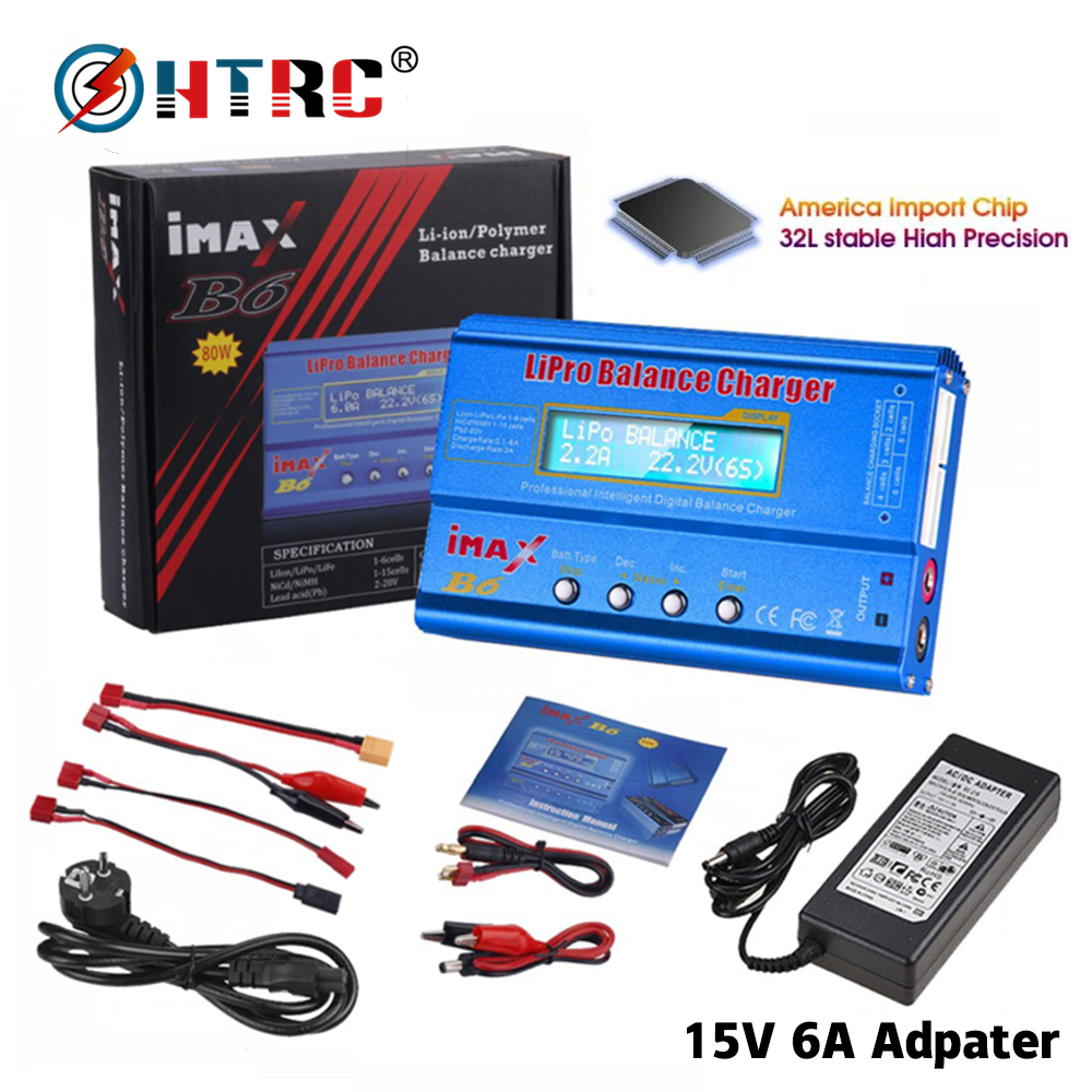 HTRC iMAX B6 80W RC Charger Lipo NiMh Li ion Ni Cd Battery Charger RC IMAX B6 Lipro Discharger Digital Balance Charger|Chargers| - AliExpress