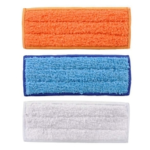 3pcs Washable Mopping Pads Sweeping Pad Cloth Replacement Parts for iRobot Braava Jet 240 241 Cleaner Robots Accessories 6pcs 3x2 microfiber washable wet damp dry sweeping pad mopping pads cloth for irobot braava jet 240 241 244 245 replacement