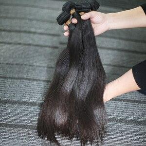 Image 3 - Rosabeauty 4 묶음/많은 10 28 인치 자연 색상 브라질 스트레이트 번들 버진 헤어 Weft 100% 인간의 머리카락 학년 10A