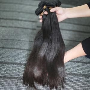 Image 3 - Rosabeauty 4 חבילות/הרבה 10 28 אינץ צבע טבעי ברזילאי ישר חבילות שיער לא מעובד ערב 100% שיער טבעי מארג כיתה 10A