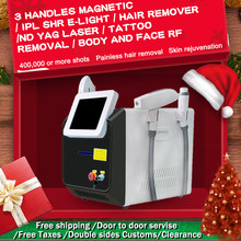 Portable Megneto IPL OPT SHR Elight hair removal machine with RF ND YAG Laser 1064 tattoo remove Multifunctional beauty Machine